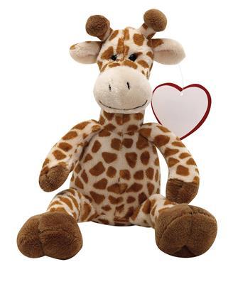 Żyrafa pluszowa, MAURICE, brązowy-598965