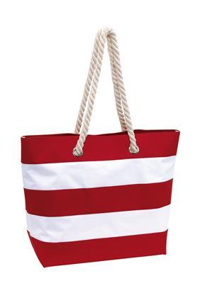 Torba plażowa, SYLT, czerwony/biały