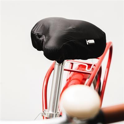 Pokrowiec z RPET na siodełko rowerowe, czarny