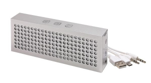 Głośnik Bluetooth BRICK, srebrny