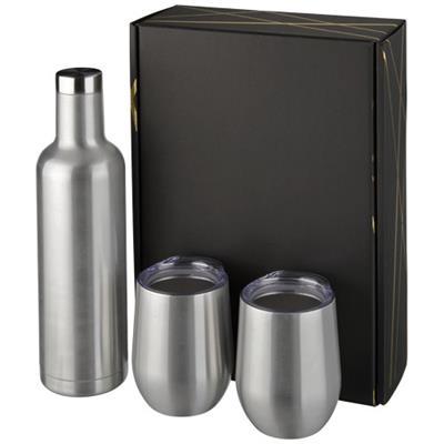 Zestaw upominkowy składający się z miedzianych izolowanych próżniowo butelek i kubków Pinto i Corzo