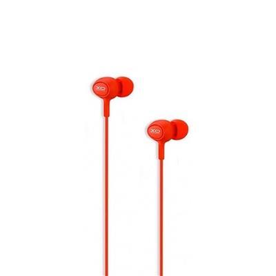 XO Słuchawki przewodowe S6 jack 3,5mm czerwona