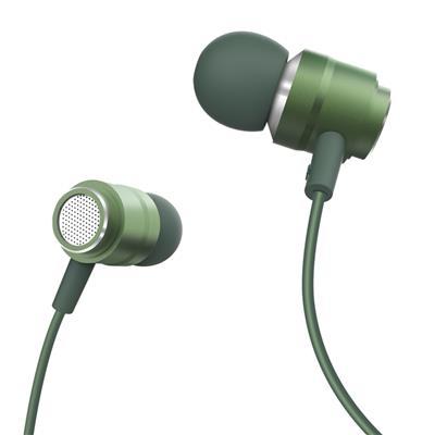 XO Słuchawki przewodowe EP6 jack 3,5mm zielone